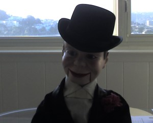 Charlie McCarthy Ventriloquist Dummy Refurbished by Omnidoll 10-09. Photo by Omnidoll.
