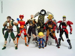 Final Fantasy XI Action Figures. From Sooperkreep at Deviantart.com.
