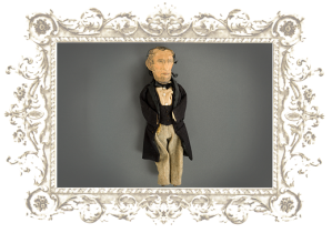 Political Effigy Doll of Abraham Lincoln. See http://www.underhishat.org/effigy_doll.html.