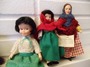 Dolls from 1930s to 1960s Ireland. Penny Brite Clone, Crolly Doll, Jay of Dublin. Photo by Omnidoll.